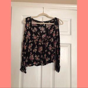 size m blouse floral $5